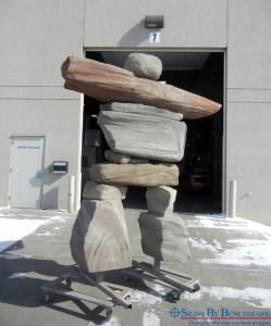 EIFS Stone primitive robot man figure