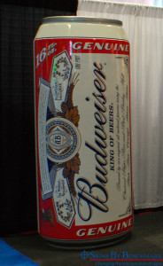 EPS foam replica Budweiser Beer can