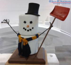 Foam replica snowman