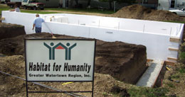 Benchmark Foam Insulated Concrete Forms installed at Habitat for Humanity site.