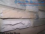 Faux Stacked Stone