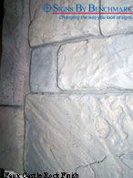 Faux Castle Rock Finish