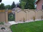 Stucco Coated Gate Panels