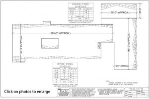Benchmark Foam Drawing of Watertown Police Dept. Bldg Roof