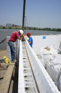 Insulated Concrete Forms for Flood Prevention Wall