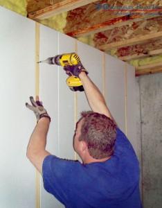 Benchmark Foam Prefirred Insulation for Finishing Interior Concrete Wall