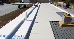 Benchmark Foam's 100% recycled eps360 as roofing insulation