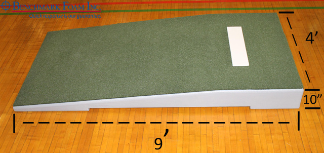 Benchmark Foam practice pitching mound specs