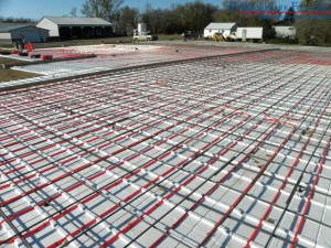 Installed Benchmark Foam Thermo-Snap (patented) in floor heat insulation panels
