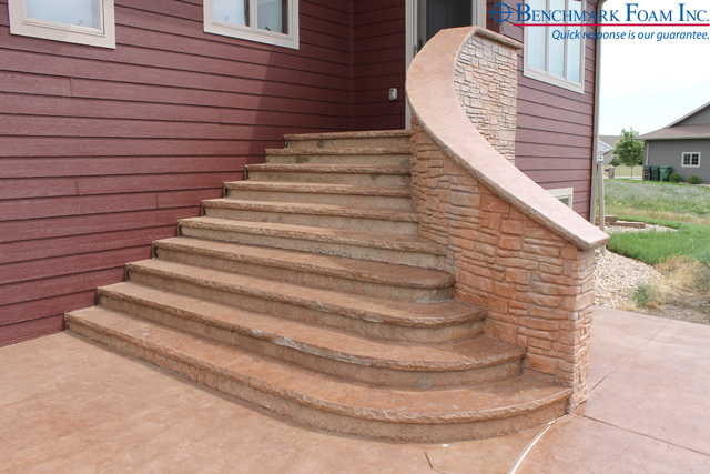 Delicieux Installed Exterior ICF Curved Wall U0026 Geofoam Stairs