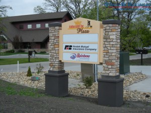 Signs By Benchmark installed custom post & panel exterior sign