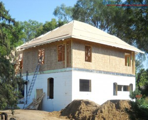 Benchmark Foam ICF insulated concrete forms for building addition