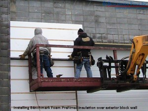 Installing Benchmark Foam PreFirred insulation