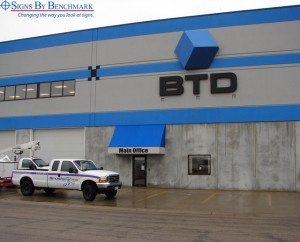Signs By Benchmark Projecting 3D logo and lettering sign