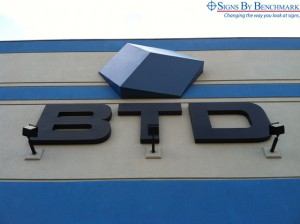 Signs By Benchmark 3D projecting logo sign