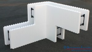 Benchmark Foam ICF Insulated Concrete Form one piece corner