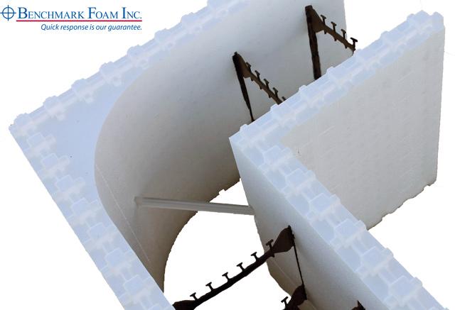 Concrete block foam insulation