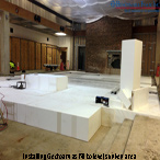 Benchmark Foam geofoam as fill to level sunken room