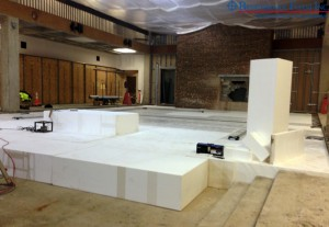 Lightweight Benchmark Foam Geofoam fills sunken floor