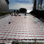 Installation of Thermo-Snap insultated panels for in floor heat