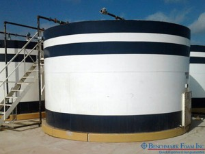 Installed Benchmark Foam patented Interlocking Tank Pad