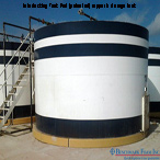 Installed Benchmark Foam Interlocking Tank Pad for above ground storage tank