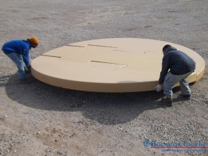 Assembling Benchmark Foam patented Interlocking Tank Pad