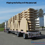 Truckload Shipping Benchmark Foam Cellular Plastic Interlocking Tank pads above ground storage tank support