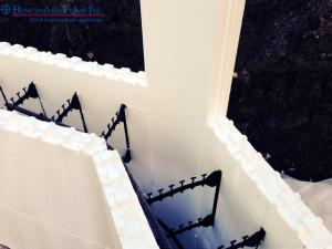 Benchmark Foam one piece 45-degree ICF corners