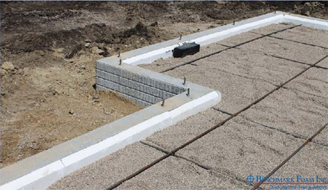 Benchmark foam expanded polystyrene eps foam manufacturer for Best temperature to pour concrete foundation