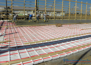 R-10 EPS foam insulation for in floor heat