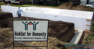 Benchmark Foam ICF helps Habitat For Humanity