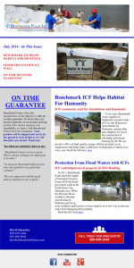 Benchmark Foam ICF July 2014 Newsletter