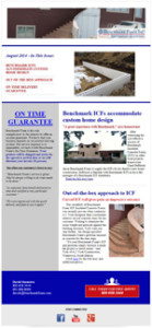 Benchmark Foam Aug 2014 Newsletter