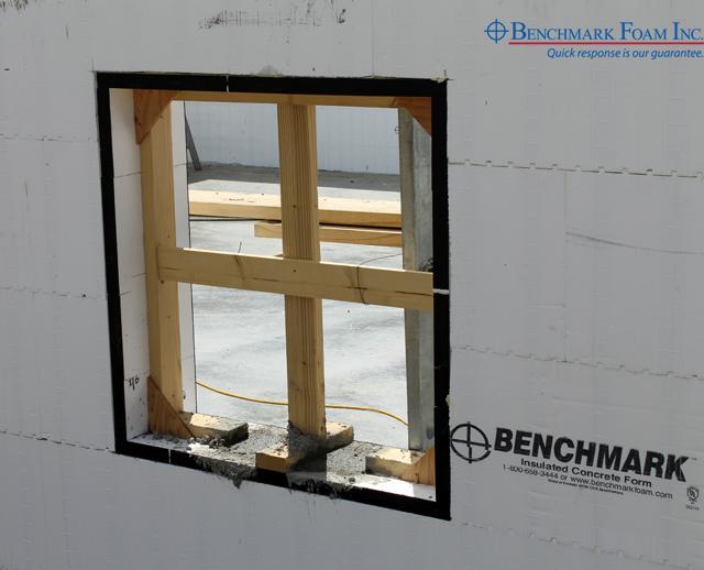 Foam ICF Compatible with Gorilla Buck Insulated Window and Door Bucks