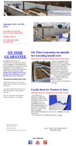 Benchmark Foam ICF Newsletter