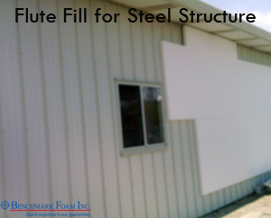 Flute Fill for steel building exterior