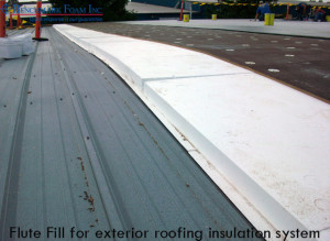 Flute Fill for roofing insulation system