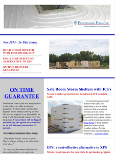 Benchmark Foam October Newsletter