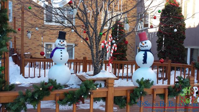 3D cellular plastic EPS snowmen