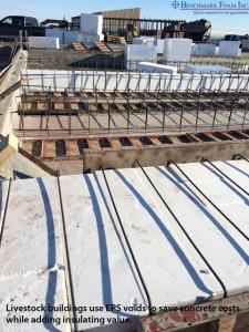 Benchmark EPS void fill material for livestock buildings
