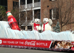 Replica Coca-Cola bottle and Iceberg Float