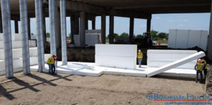 Installing Goefoam for bridge construction