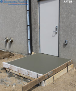 Concrete over EPS Stoop Fill