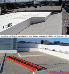 Remodeling roof for drainage with EPS